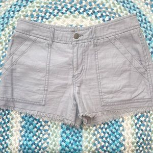 Free People Grey Fringe Cut Off Shorts